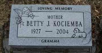 KOCIEMBA, BETTY J. - Mecosta County, Michigan | BETTY J. KOCIEMBA - Michigan Gravestone Photos