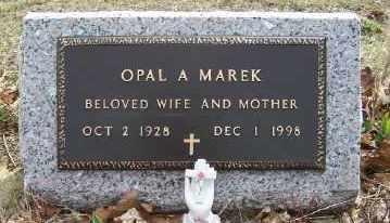 MAREK, OPAL A. - Mecosta County, Michigan | OPAL A. MAREK - Michigan Gravestone Photos