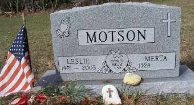 MOTSON, LESLIE - Mecosta County, Michigan | LESLIE MOTSON - Michigan Gravestone Photos