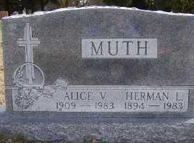 MUTH, ALICE V. - Mecosta County, Michigan   ALICE V. MUTH - Michigan Gravestone Photos