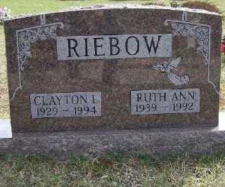 RIEBOW, RUTH A. - Mecosta County, Michigan | RUTH A. RIEBOW - Michigan Gravestone Photos