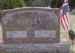 RIPLEY, MONA ALVINA - Mecosta County, Michigan | MONA ALVINA RIPLEY - Michigan Gravestone Photos
