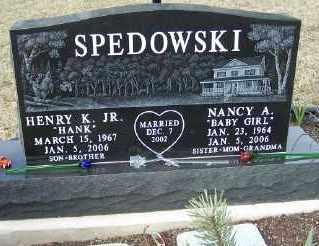 SPEDOWSKI, NANCY A. - Mecosta County, Michigan | NANCY A. SPEDOWSKI - Michigan Gravestone Photos