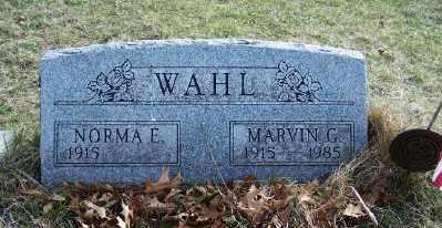 WAHL, NORMA E. - Mecosta County, Michigan | NORMA E. WAHL - Michigan Gravestone Photos