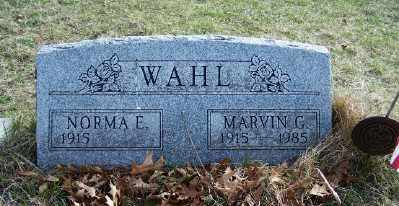 WAHL, MARVIN - Mecosta County, Michigan | MARVIN WAHL - Michigan Gravestone Photos