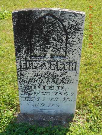 EBERHARD, ELIZABETH - St. Joseph County, Michigan   ELIZABETH EBERHARD - Michigan Gravestone Photos