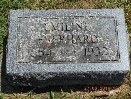 EBERHARD, EMILINE - St. Joseph County, Michigan   EMILINE EBERHARD - Michigan Gravestone Photos