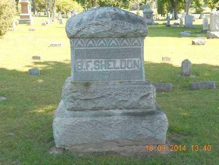 SHELDON, B.F. - St. Joseph County, Michigan | B.F. SHELDON - Michigan Gravestone Photos