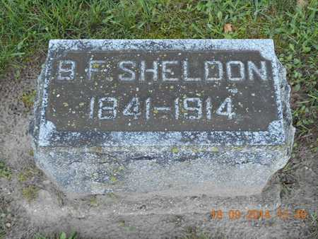 SHELDON, B.F. - St. Joseph County, Michigan | B.F. SHELDON - Michigan Gravestone Photos