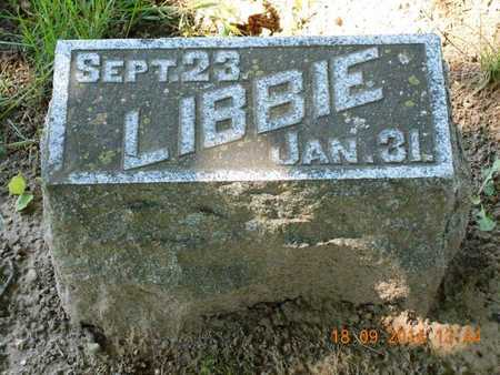 "SHELDON, ELIZABETH M. ""LIBBIE"" - St. Joseph County, Michigan | ELIZABETH M. ""LIBBIE"" SHELDON - Michigan Gravestone Photos"