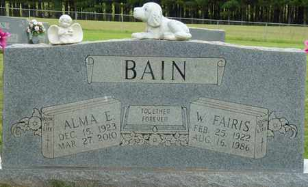 BAIN, W. FAIRIS - Alcorn County, Mississippi   W. FAIRIS BAIN - Mississippi Gravestone Photos