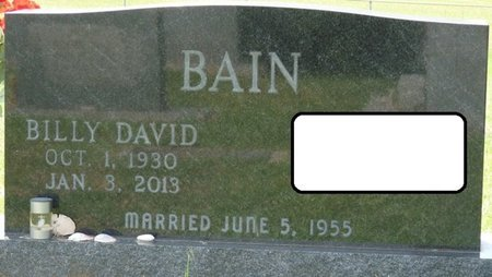 BAIN, BILLY DAVID - Alcorn County, Mississippi | BILLY DAVID BAIN - Mississippi Gravestone Photos