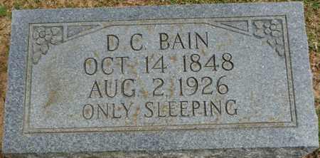 BAIN, D.C. - Alcorn County, Mississippi | D.C. BAIN - Mississippi Gravestone Photos