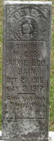 BAIN, DEWEY - Alcorn County, Mississippi | DEWEY BAIN - Mississippi Gravestone Photos