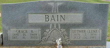 "BAIN, LUTHER ""LUKE"" - Alcorn County, Mississippi | LUTHER ""LUKE"" BAIN - Mississippi Gravestone Photos"