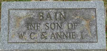 BAIN, INFANT - Alcorn County, Mississippi | INFANT BAIN - Mississippi Gravestone Photos