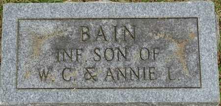BAIN, INFANT SON - Alcorn County, Mississippi | INFANT SON BAIN - Mississippi Gravestone Photos