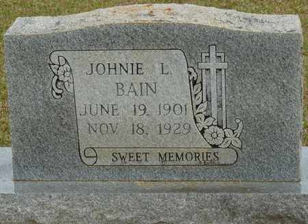 BAIN, JOHNIE L - Alcorn County, Mississippi | JOHNIE L BAIN - Mississippi Gravestone Photos