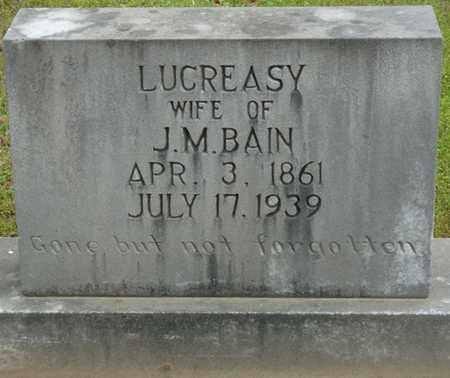 BAIN, LUCREASY - Alcorn County, Mississippi | LUCREASY BAIN - Mississippi Gravestone Photos