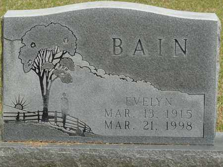 BAIN, MAGGIE EVELYN - Alcorn County, Mississippi | MAGGIE EVELYN BAIN - Mississippi Gravestone Photos