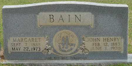 BAIN, MARGARET - Alcorn County, Mississippi | MARGARET BAIN - Mississippi Gravestone Photos