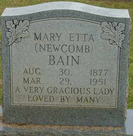 BAIN, MARY ETTA - Alcorn County, Mississippi | MARY ETTA BAIN - Mississippi Gravestone Photos