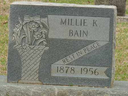 BAIN, MILLIE K - Alcorn County, Mississippi | MILLIE K BAIN - Mississippi Gravestone Photos