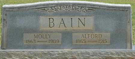 BAIN, ALFORD - Alcorn County, Mississippi   ALFORD BAIN - Mississippi Gravestone Photos
