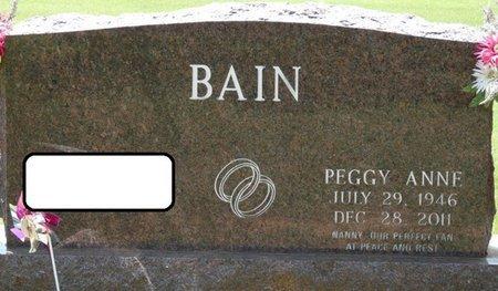 BAIN, PEGGY ANNE - Alcorn County, Mississippi | PEGGY ANNE BAIN - Mississippi Gravestone Photos