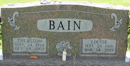 BAIN, THURSTON - Alcorn County, Mississippi | THURSTON BAIN - Mississippi Gravestone Photos