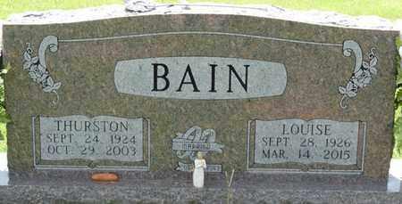 BAIN, LOUISE - Alcorn County, Mississippi | LOUISE BAIN - Mississippi Gravestone Photos