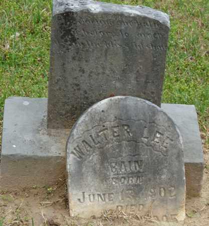 BAIN, WALTER LEE - Alcorn County, Mississippi | WALTER LEE BAIN - Mississippi Gravestone Photos