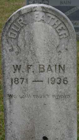 BAIN, W.F. - Alcorn County, Mississippi | W.F. BAIN - Mississippi Gravestone Photos