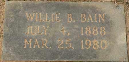 BAIN, WILLIE B - Alcorn County, Mississippi | WILLIE B BAIN - Mississippi Gravestone Photos