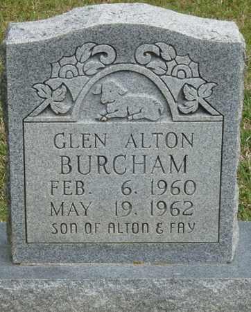 BURCHAM, GLEN ALTON - Alcorn County, Mississippi | GLEN ALTON BURCHAM - Mississippi Gravestone Photos
