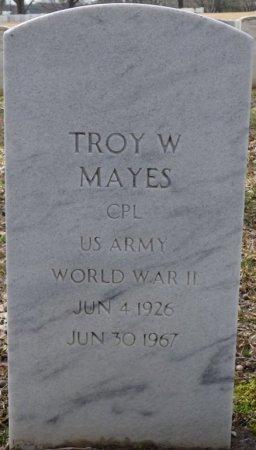 MAYES (VETERAN WWII), TROY W (NEW) - Alcorn County, Mississippi   TROY W (NEW) MAYES (VETERAN WWII) - Mississippi Gravestone Photos