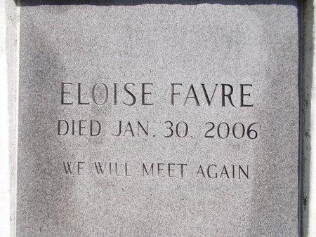 FAVRE, ELOISE - Hancock County, Mississippi | ELOISE FAVRE - Mississippi Gravestone Photos