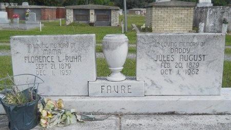 FAVRE, JULES AUGUST - Hancock County, Mississippi | JULES AUGUST FAVRE - Mississippi Gravestone Photos