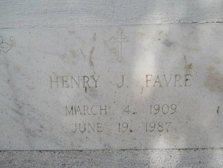 FAVRE, HENRY J - Hancock County, Mississippi | HENRY J FAVRE - Mississippi Gravestone Photos