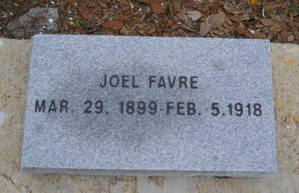 FAVRE, JOEL - Hancock County, Mississippi   JOEL FAVRE - Mississippi Gravestone Photos