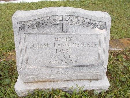 FAVRE, LOUISE - Hancock County, Mississippi | LOUISE FAVRE - Mississippi Gravestone Photos