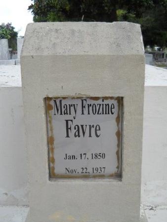 FAVRE, MARY FROZINE - Hancock County, Mississippi   MARY FROZINE FAVRE - Mississippi Gravestone Photos
