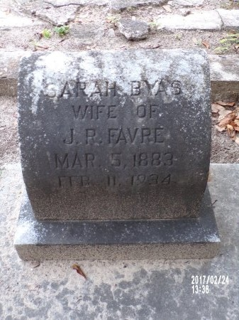 FAVRE, SARAH - Hancock County, Mississippi | SARAH FAVRE - Mississippi Gravestone Photos