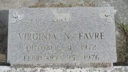 FAVRE, VIRGINIA N - Hancock County, Mississippi | VIRGINIA N FAVRE - Mississippi Gravestone Photos