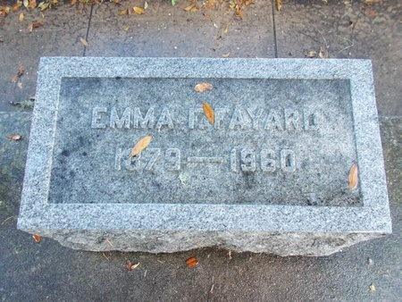 FAYARD, EMMA FLORENCE - Hancock County, Mississippi | EMMA FLORENCE FAYARD - Mississippi Gravestone Photos