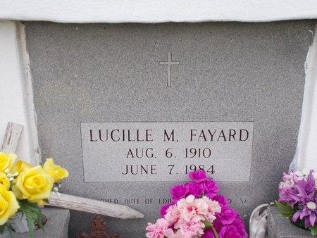 FAYARD, LUCILLE M (CLOSE UP) - Hancock County, Mississippi | LUCILLE M (CLOSE UP) FAYARD - Mississippi Gravestone Photos