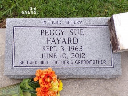 FAYARD, PEGGY SUE - Hancock County, Mississippi | PEGGY SUE FAYARD - Mississippi Gravestone Photos