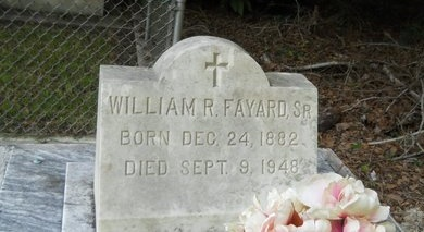 FAYARD, WILLIAM R, SR (CLOSEUP) - Hancock County, Mississippi | WILLIAM R, SR (CLOSEUP) FAYARD - Mississippi Gravestone Photos
