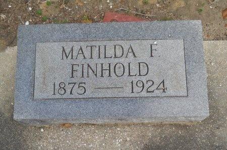 FINHOLD, MATILDA - Hancock County, Mississippi   MATILDA FINHOLD - Mississippi Gravestone Photos