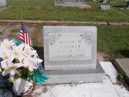 LADNER, AGELINE M (CLOSE UP) - Hancock County, Mississippi | AGELINE M (CLOSE UP) LADNER - Mississippi Gravestone Photos